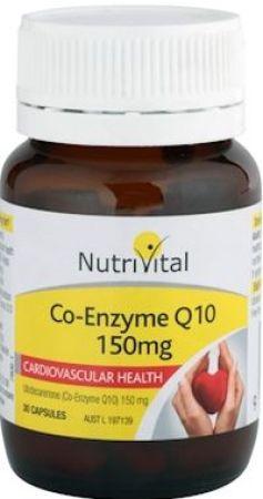 NutriVital Co-Enzyme Q10 150mg