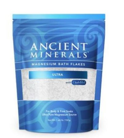 Ancient Minerals Magnesium Bath Flakes Ultra with OptiMSM
