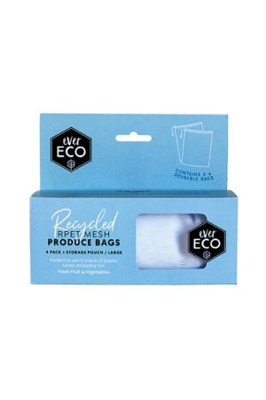 Ever Eco Reusable Produce Bags Mesh 4 Pack Storage Pouch