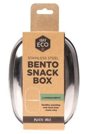Ever Eco Stainless Steel Bento Snack Box 2 Compartment