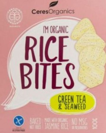 Ceres Organics Rice Bites Grean Tea and Seaweed