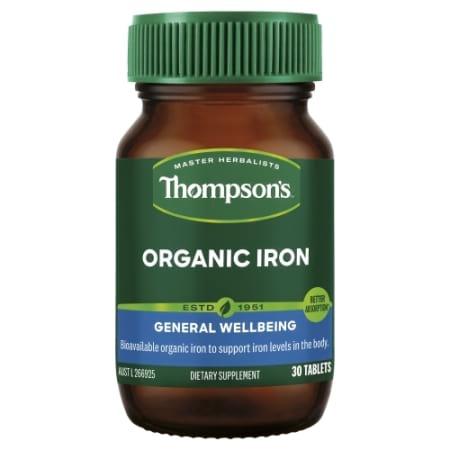 Thompsons Organic Iron 24 mg