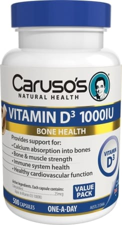 Carusos Natural Health Vitamin D3 1000