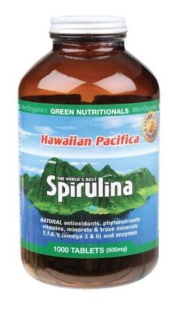 Hawaiian Pacifica Spirulina 1000 Tablets 500mg