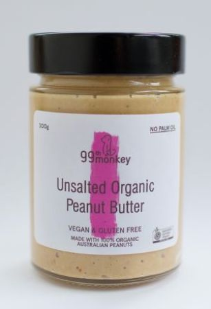 99th Monkey Unsalted Organic Peanut Butter