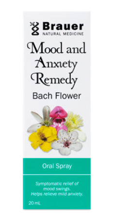 Brauer  Mood & Anxiety Remedy Bach Flower Oral Spray