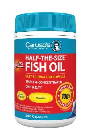 Carusos Natural Health Half The Size Fish Oil