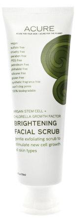Acure Organics Argan Stem Cell Chlorella Brightening Facial Scrub