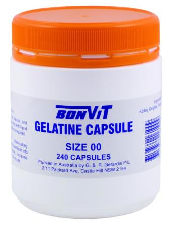 BonVit Empty Gelatine Capsules - Size 00