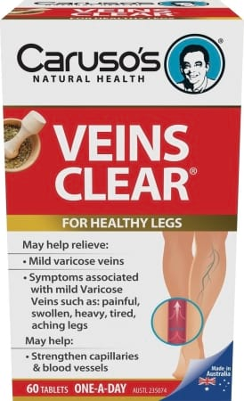 Carusos Natural Health Veins Clear