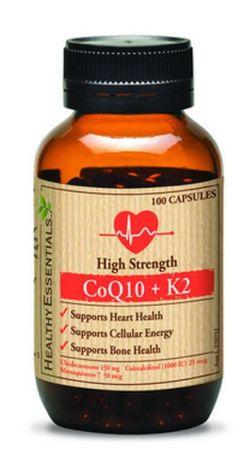 Healthy Essentials CoQ10 plus K2