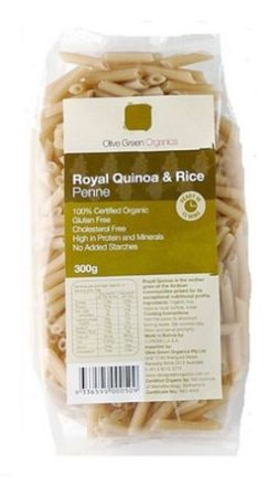Olive Green Organics Royal Quinoa and Rice Penne