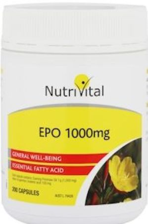 Nutrivital Evening Primrose Oil 1000mg