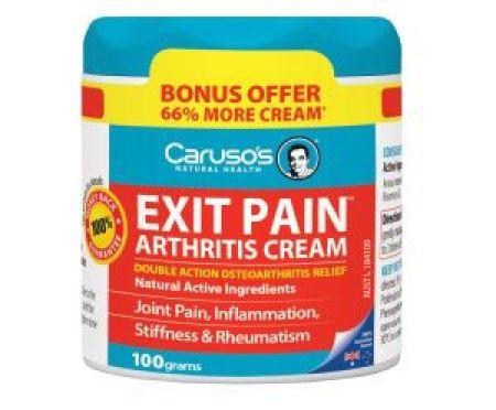 Carusos Natural Health Exit Pain Arthritis Cream