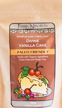 Food to Nourish Divine Vanilla Cake