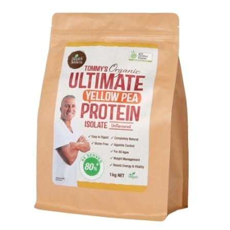 Health Addicts Tommy`s Ultimate Yellow Pea Protein Isolate 1kg