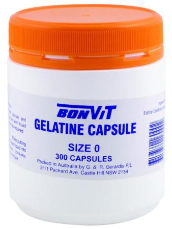 BonVit Empty Gelatine Capsules - Size 0