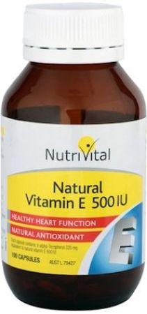 NutriVital Natural Vitamin E 500iu