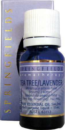 Tea Tree Lavender Certified Organic Springfields Essential Oil