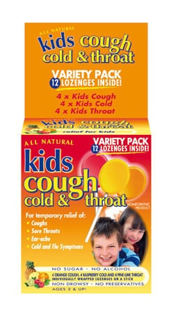 All Natural Kids - Cough,Cold and Throat variety pack