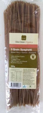 Olive Green Organics 3 Grain Spaghetti