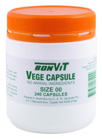 BonVit Empty Vege Capsules - Size 00