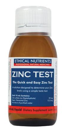 Ethical Nutrients Zinc Test