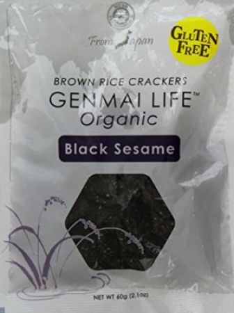 Muso Organic Brown Rice Crackers Black Sesame