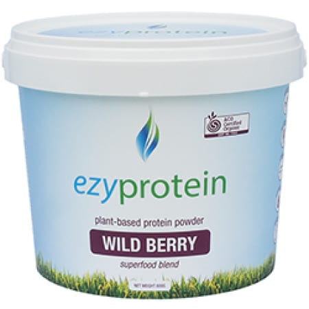 Ezy Protein Wild Berry 800g Organic