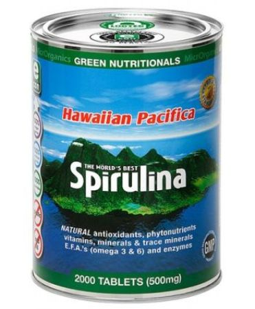 Hawaiian Pacifica Spirulina Tablets 500 mg