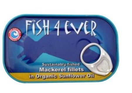 Fish 4 Ever Mackerel Fillets in Organic Sunflower Oil