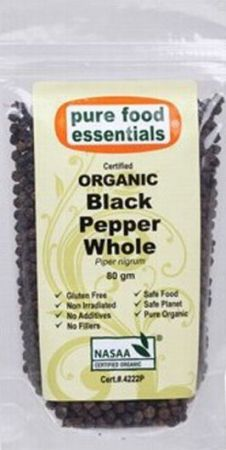 Pure Food Essential Black Pepper whole