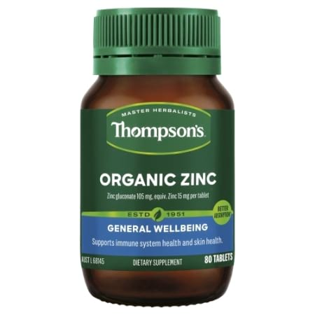 Thompsons Organic Zinc Tablets