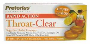 Pretorius Throat Clear Honey and Lemon