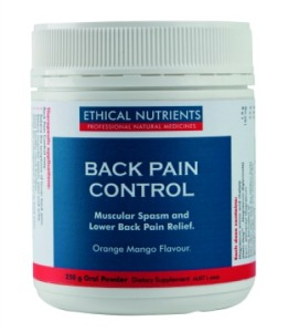 Ethical Nutrients Back Pain Control