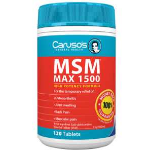 Carusos Natural Health MSM Max 1500mg