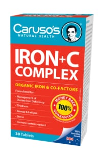 Carusos Natural Health Ultra Max Iron Plus C