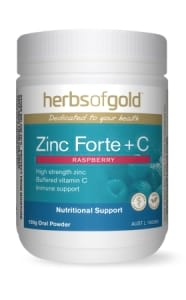 Herbs of Gold Zinc Forte plus C